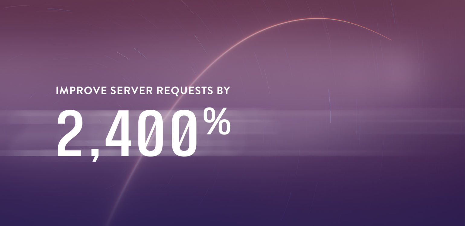 Speed up server requests by 2,400%