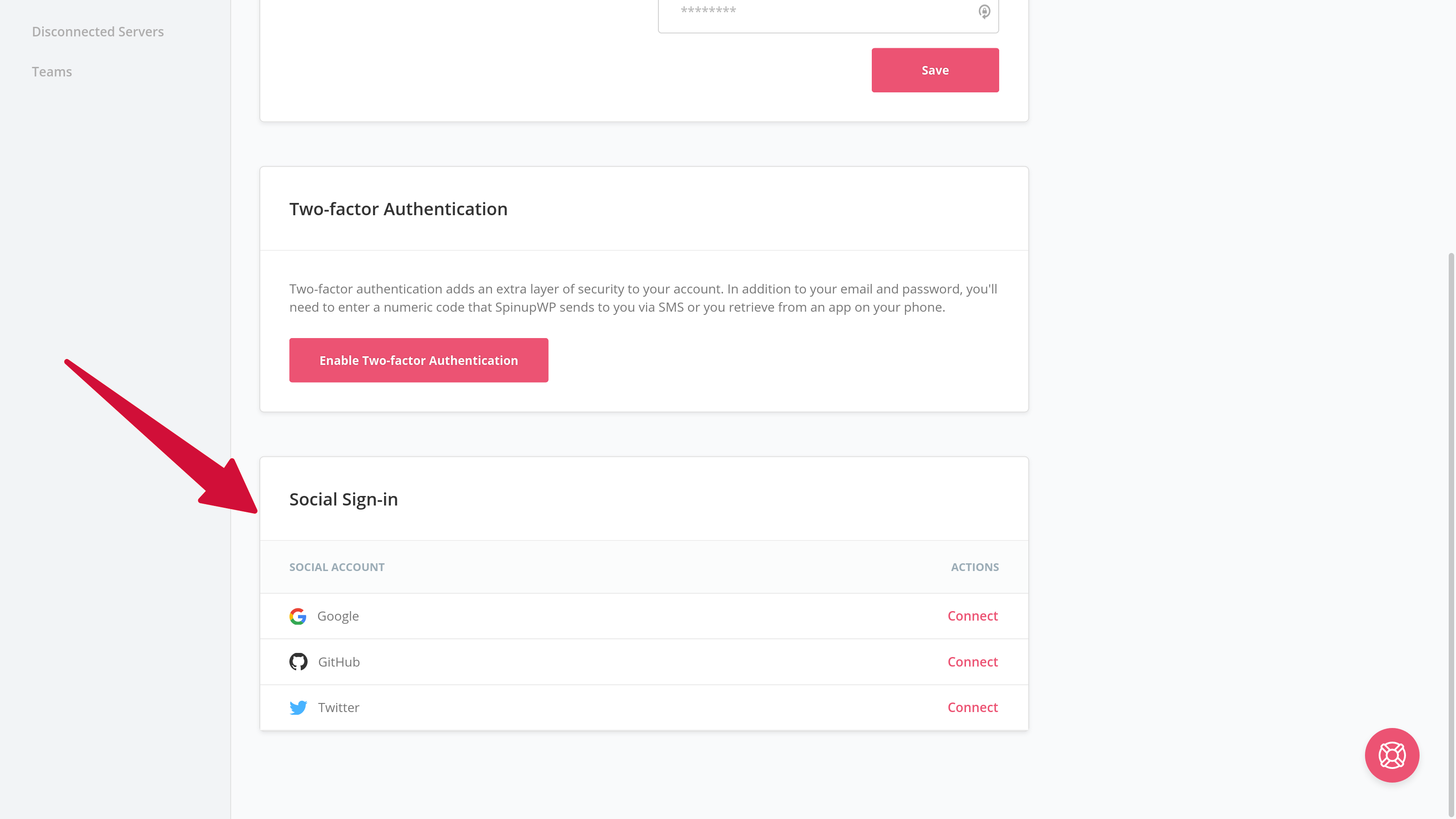 Enable social sign-on