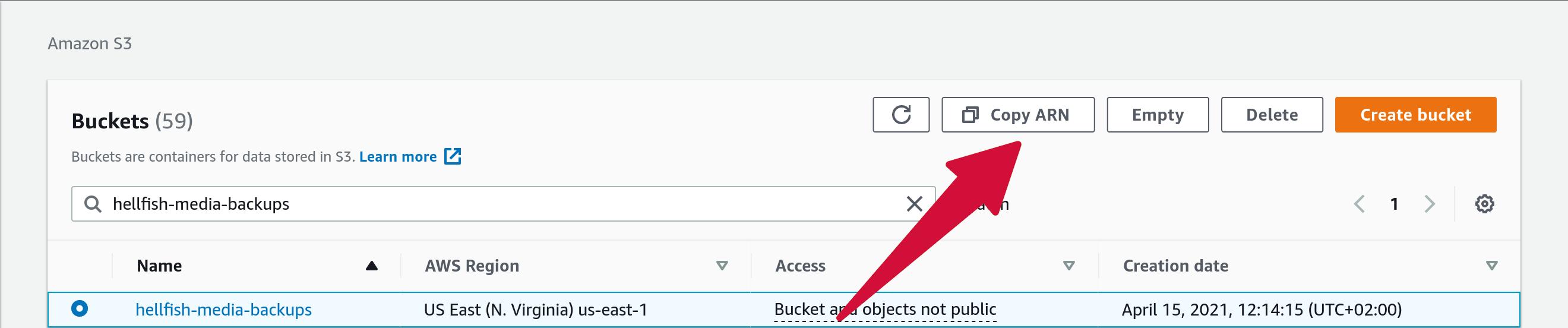 Amazon S3 Bucket Select ARN