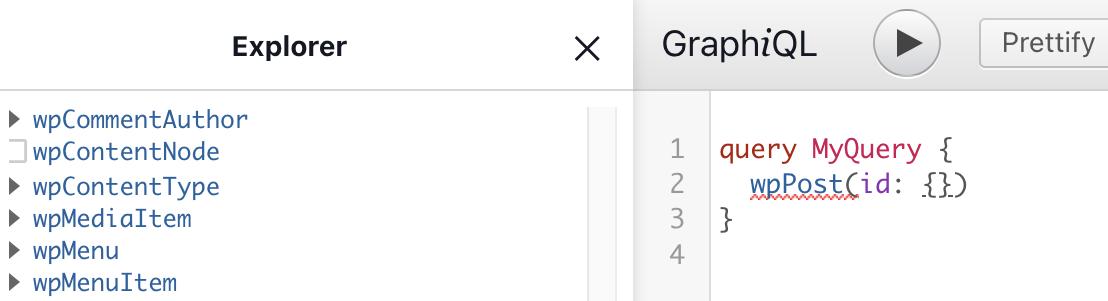 Auto formatting in GraphiQL